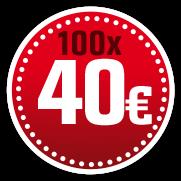 100 x 40 €